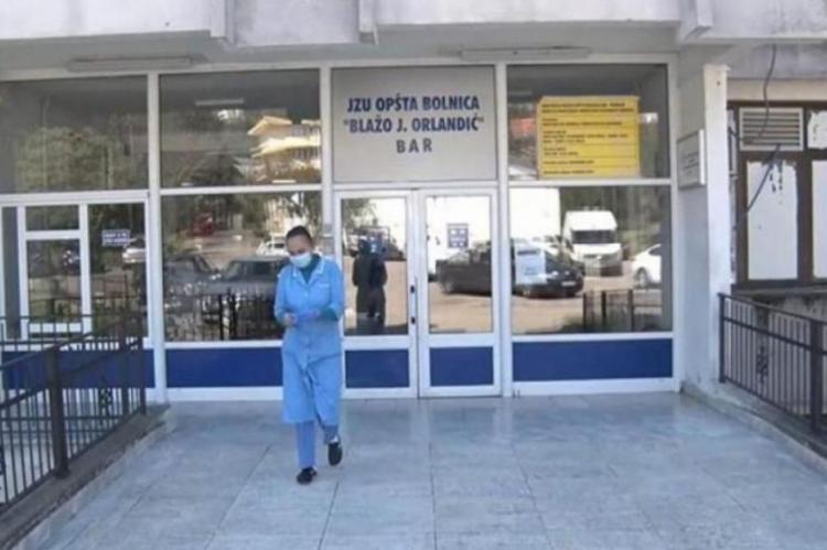 U bolnici u Baru pet ljekara i 14 medicinskih sestara pozitivno na koronavirus