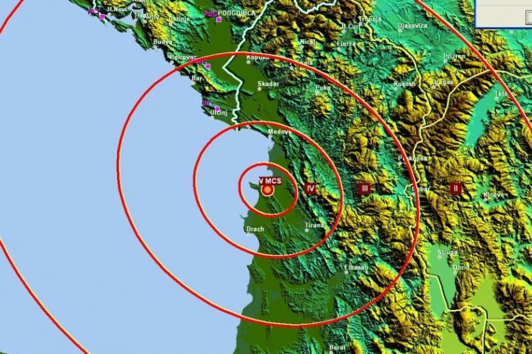Zemljotres u Albaniji, osjetio se u Crnoj Gori