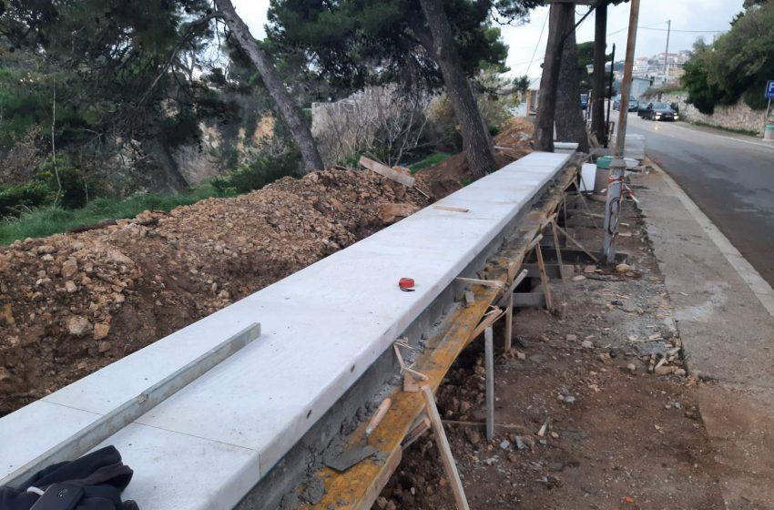 Parapetni zid u Borovoj šumi biće gotov sredinom januara
