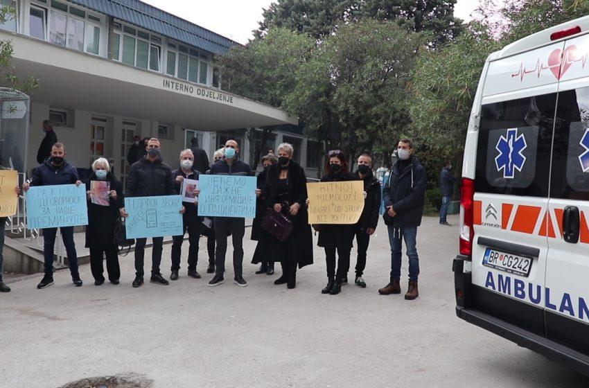 Porodice preminulih i sjutra ispred bolnice u Baru