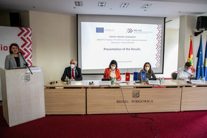 Korisnici drugog Poziva u okviru Programa Crna Gora – Kosovo otpočeli sprovođenje projekata u vrijednosti 2,4 miliona eura